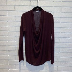 Splendid cowl neck long sleeve medium blouse
